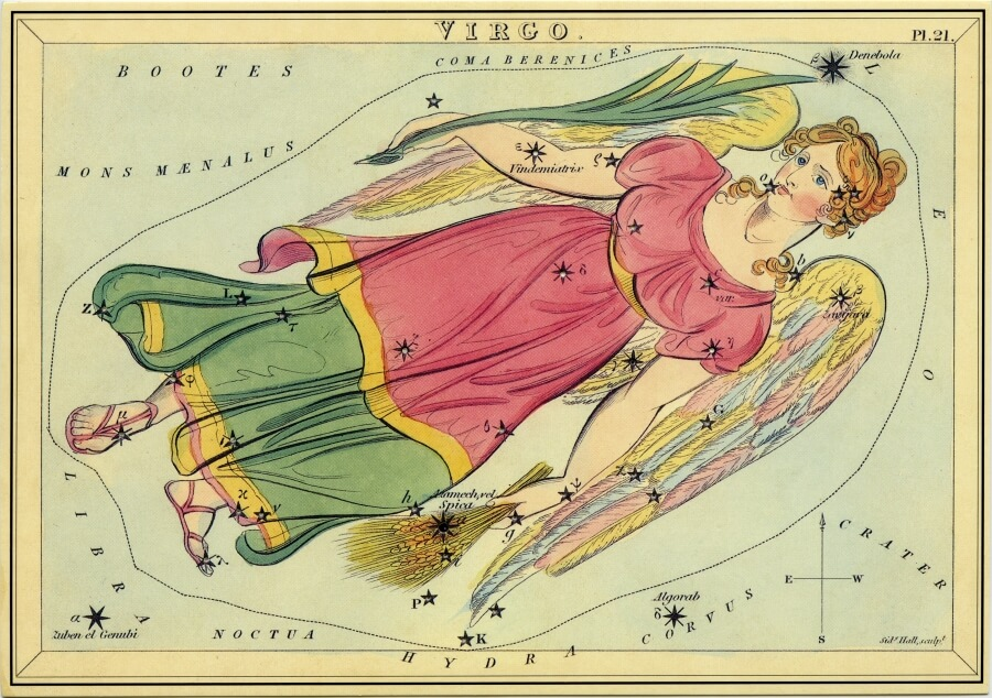 Virgo image - from The Box of Stars